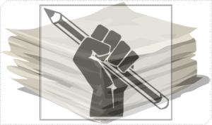 鉛筆と論文