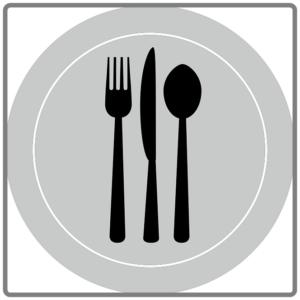 皿にスプーンとフォーク