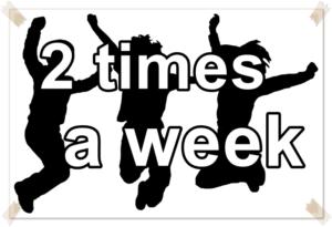 英語で「週に2回」の運動
