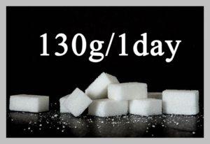 砂糖は1日130g