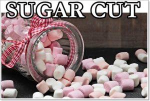 sugar-cutの文字とマシュマロ