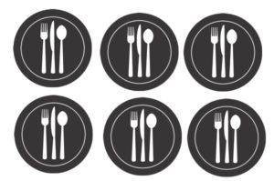 たくさんの皿