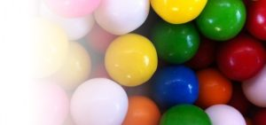 ボール型のガム