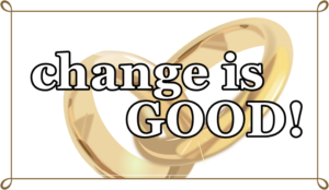change is goodの文字