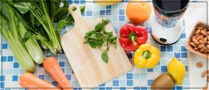 野菜の料理中