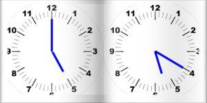 20分経った時計