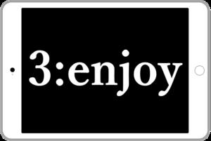 3:enjoyの文字