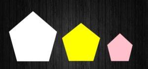 3つの五角形