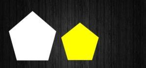 上2つの五角形