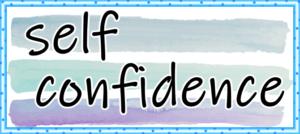 self confidenceの文字