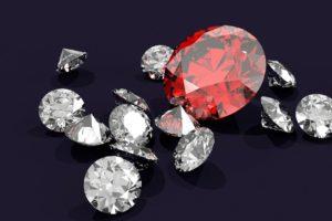 たくさんのダイヤモンド