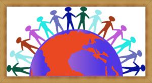 地球で手をつなぐ人々