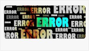 ERRORの文字