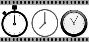 3つの時計とフィルム