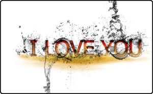 I love youの文字