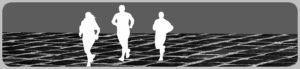 ジョギングのシルエット
