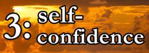 3:self-confidenceの文字