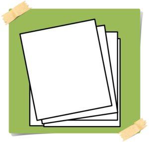 書類がたくさんある絵