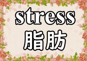 stressと脂肪の文字