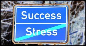 successとstressの看板