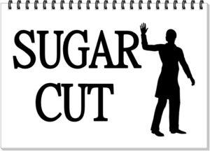 sugar cutに手を振っている男