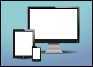 タブレット、パソコン、スマホの画面