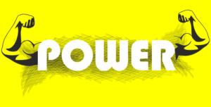 POWERの文字