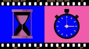 腕時計と砂時計