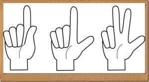 指で1・2・3
