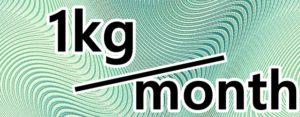 1kg/monthの文字