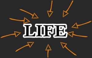 LIFEに→が向かっている