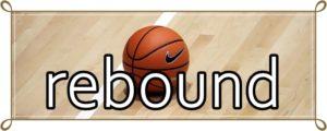 バスケットボールのリバウンド