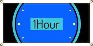 1時間の時計