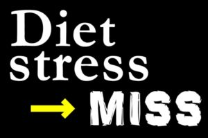ダイエットがストレスなら、失敗する