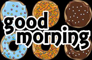 ドーナッツとgood morningの文字