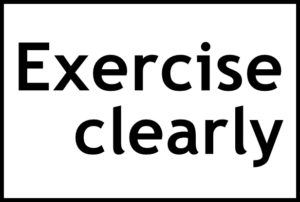Exercise clearlyの文字