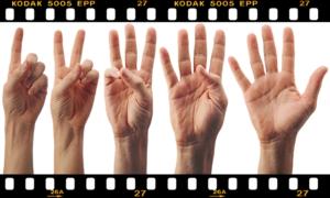 指で1,2,3,4,5