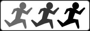 走る人の姿