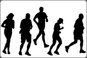 走っている人たち