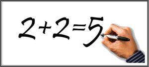 2+2=5の間違い