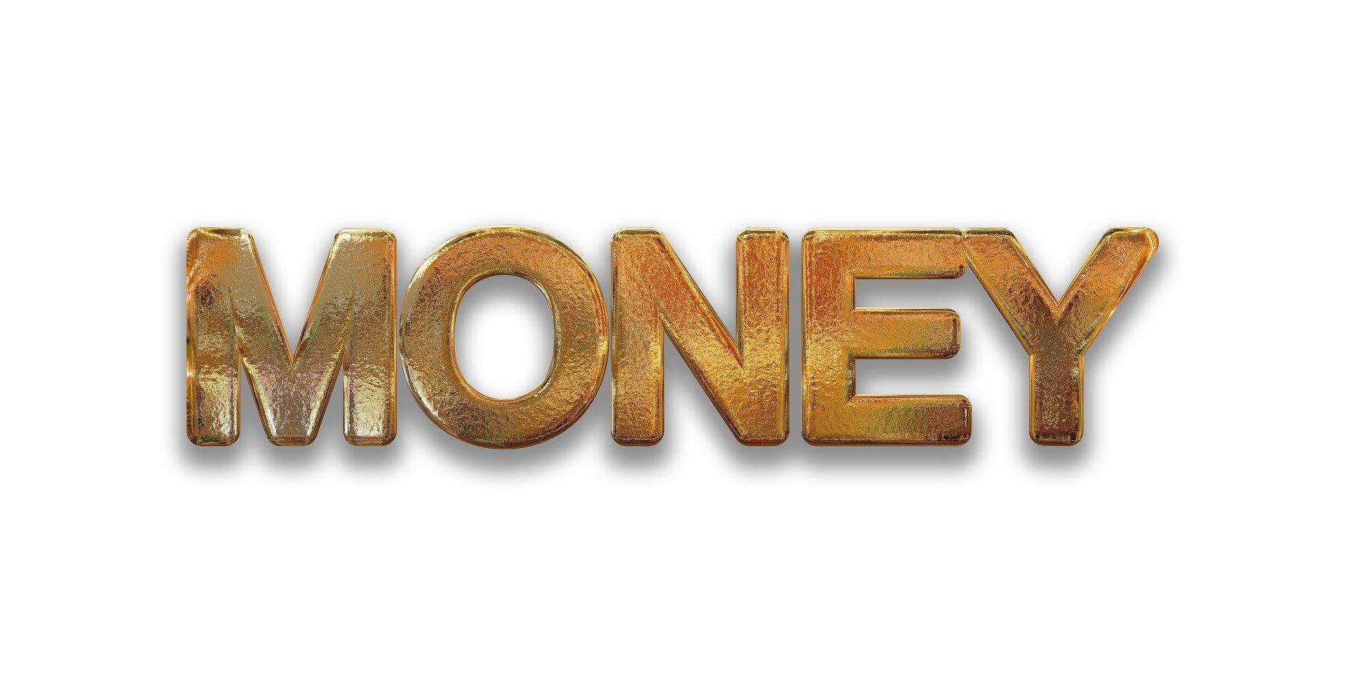 MONEYの文字