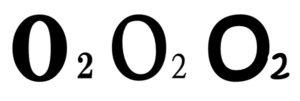 O2の酸素が3つ