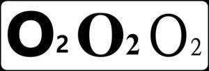 O2が3つ並んでいる