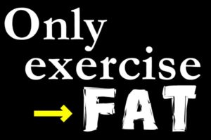 運動だけだと、太ってしまう