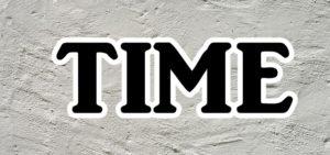 TIMEの文字