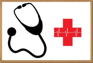 診察器と赤十字