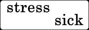 ストレスと病気の文字
