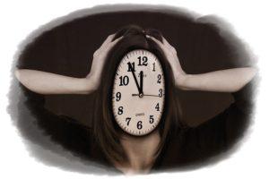 ストレスで悩む時計