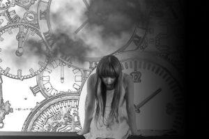 時計と辛い少女