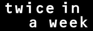 英語で「週に2回」